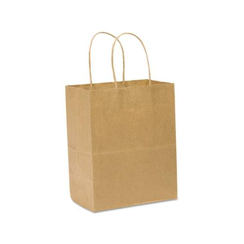 General Paper Shopping Bag, 60lb Kraft, Heavy-Duty 8 X 4 1-2 X 10 1-4, 250 Bags