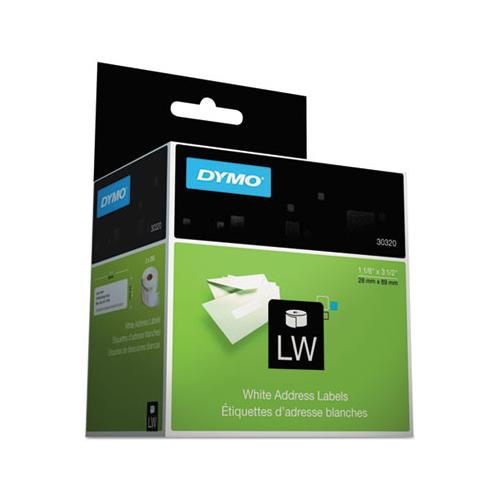 DYMO Labelwriter Address Labels, 1 1-8 X 3 1-2, White, 260 Labels-roll, 2 Rolls-pack