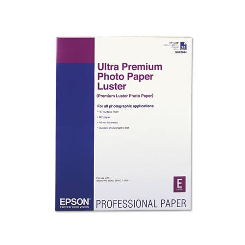 Epson Ultra Premium Photo Paper, Luster, 17 X 22, 25 Sheets-pack