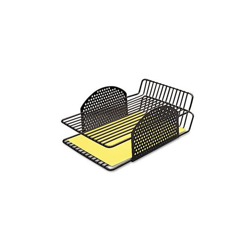 Fellowes Perf-Ect Double Letter Tray, Two Tier, Wire, Black