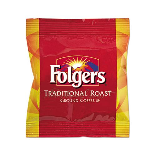 Folgers Ground Coffee Fraction Packs, Traditional Roast, 2oz, 42-carton