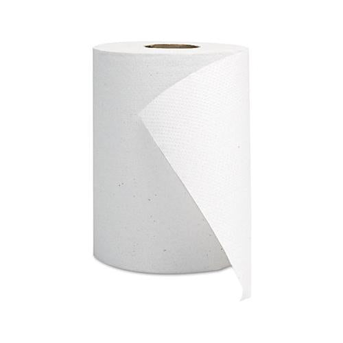 GEN Hardwound Roll Towels, White, 8 X 350'
