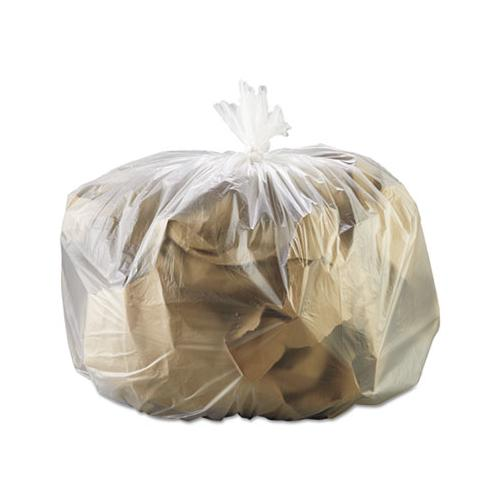 GEN High-Density Can Liner, 33 X 39, 33gal, 13mic, Natural, 25 Bags-rl, 10 Rolls-ct