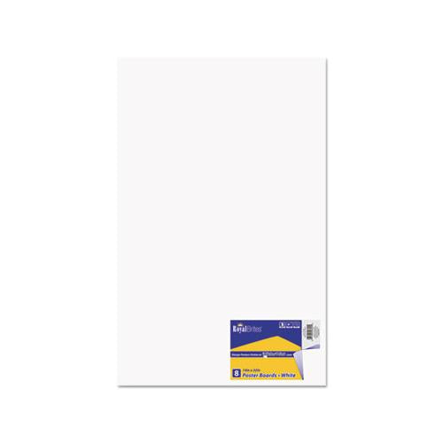 RoyalBrit Premium Coated Poster Board, 14 X 22, White, 8-pack