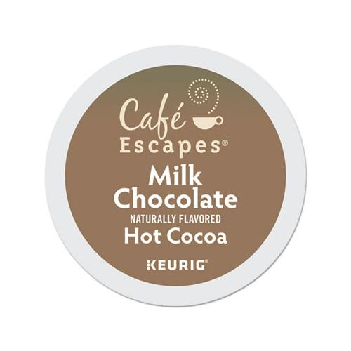 CafeEscape Cafe Escapes Milk Chocolate Hot Cocoa K-Cups, 96-carton