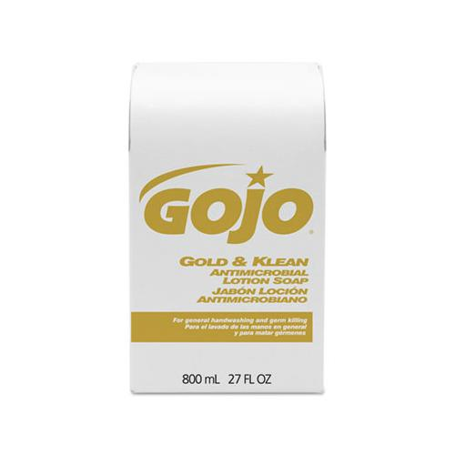 GOJO Gold And Klean Lotion Soap Bag-In-Box Dispenser Refill, Floral Balsam, 800ml