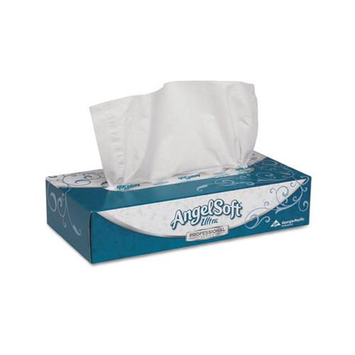 "GeorgiaPac Ultra Premium Facial Tissue, White, 7 2-5""x 8 4-5"", 125-box, 30 Boxes-carton"
