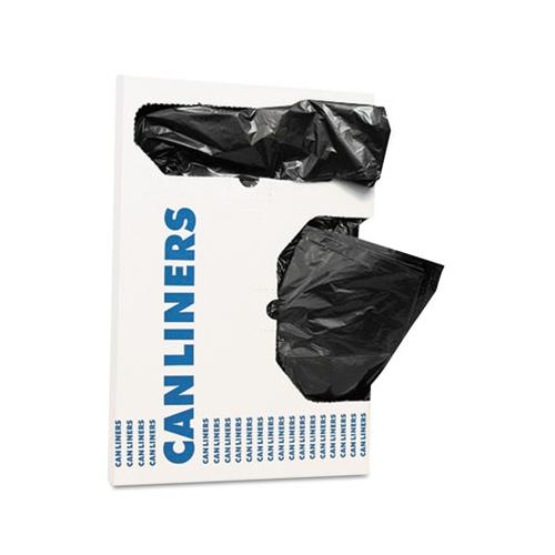 "AccuFit Can Liners, 16 Gal, 1 Mil, Black, 24"" X 32"", 250-carton"