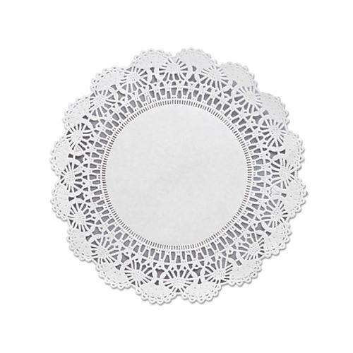 "Hoffmaster Cambridge Lace Doilies, Round, 8"", White, 1000-carton"