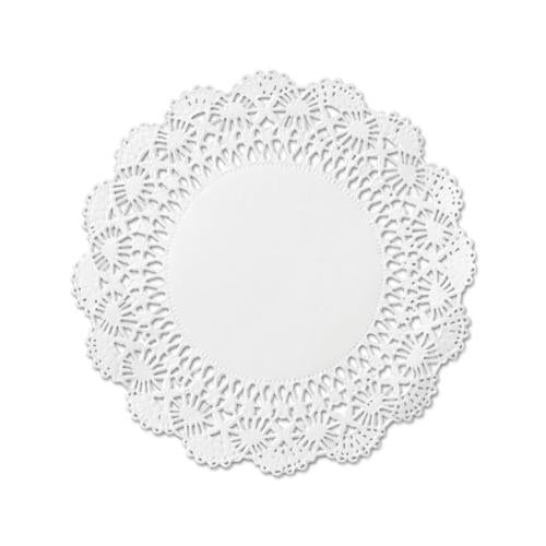"Hoffmaster Cambridge Lace Doilies, Round, 10"", White, 1000-carton"