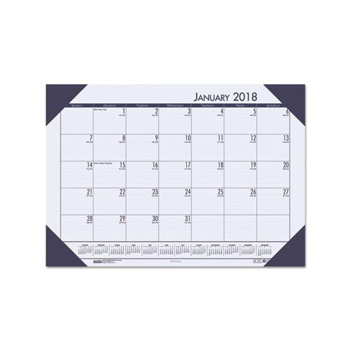 House of Doolittle; EcoTones; 100% Recycled Monthly Desk Pad Calendar