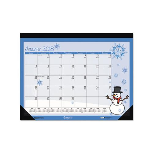 Doolittle EARTHSCAPES SEASONAL DESK PAD CALENDAR, 22 X 17, ILLUSTRATED HOLIDAY, 2019