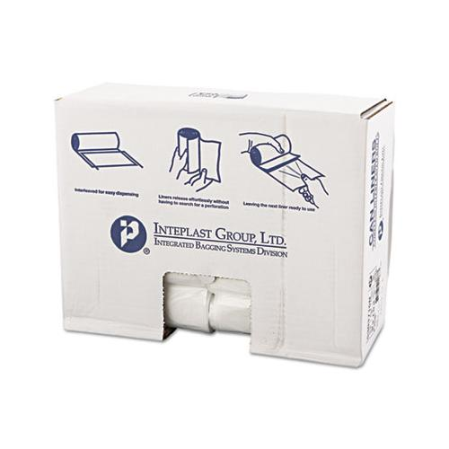 Inteplast High-Density Can Liner, 30 X 37, 30gal, 16mic, Clear, 25-roll, 20 Rolls-carton