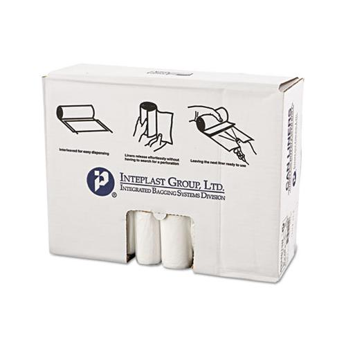 Inteplast High-Density Can Liner, 33 X 40, 33gal, 13mic, Clear, 25-roll, 20 Rolls-carton