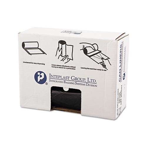 Inteplast High-Density Can Liner, 40 X 46, 45gal, 19mic, Black, 25-roll, 6 Rolls-carton