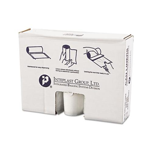 Inteplast High-Density Can Liner, 40 X 46, 45gal, 12mic, Clear, 25-roll, 10 Rolls-carton
