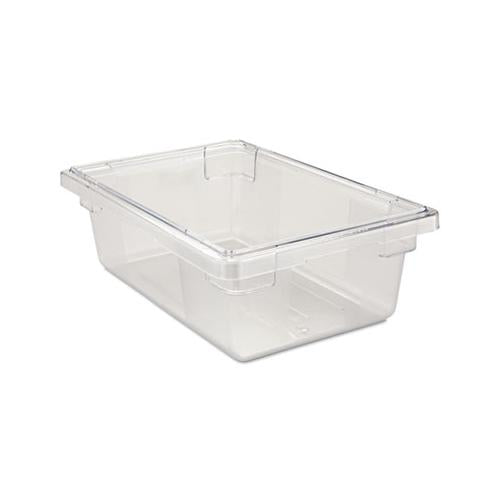Rubbermaid Food-tote Boxes, 3 1-2gal, 18w X 12d X 6h, Clear