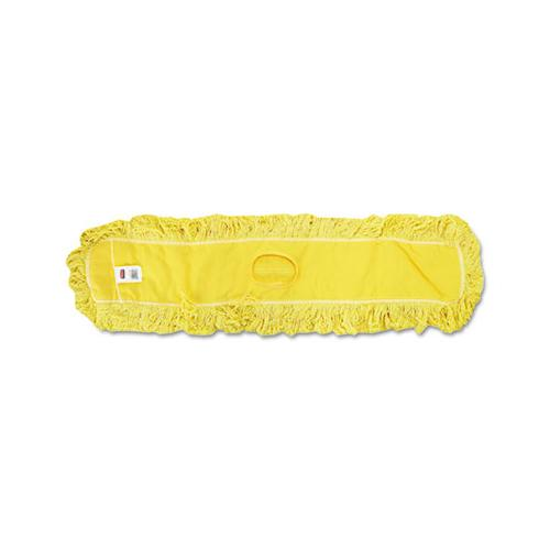 "Rubbermaid Trapper Commercial Dust Mop, Looped-End Launderable, 5"" X 48"", Yellow"
