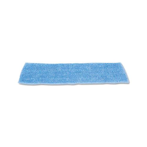 "Rubbermaid Economy Wet Mopping Pad, Microfiber, 18"", Blue"