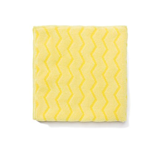 Rubbermaid Reusable Cleaning Cloths, Microfiber, 16 X 16, Yellow, 12-carton