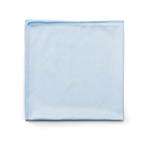 Rubbermaid EXECUTIVE SERIES HYGEN CLEANING CLOTHS, GLASS MICROFIBER, 16 X 16, BLUE, 12-CT