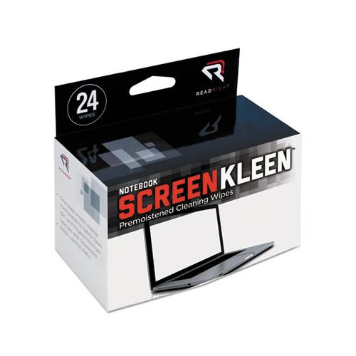 Read Right Notebook Screenkleen Pads, Cloth, 7 X 5, White, 24-box