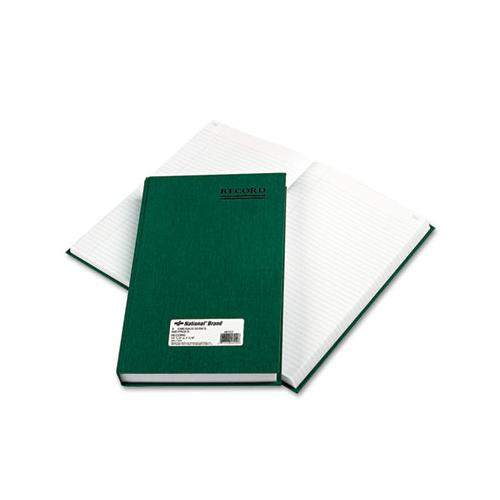 Nat'lBrand Emerald Series Account Book, Green Cover, 500 Pages, 12 1-4 X 7 1-4