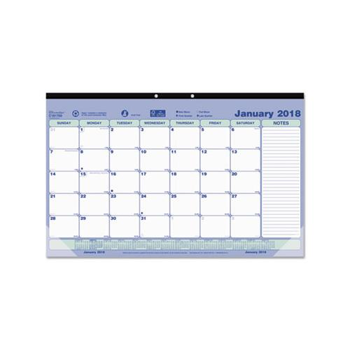 Brownline MONTHLY DESK PAD CALENDAR, 17 3-4 X 10 7-8, 2019