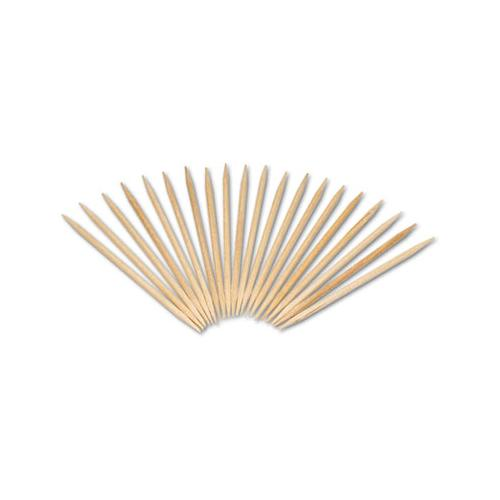 "Royal Round Wood Toothpicks, 2 1-2"", Natural, 800-Box, 24 Boxes-Carton"