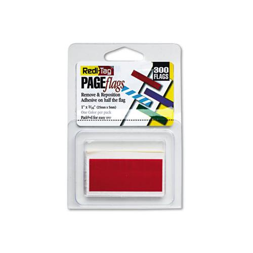 Redi-Tag Removable-reusable Page Flags, Red, 300-pack