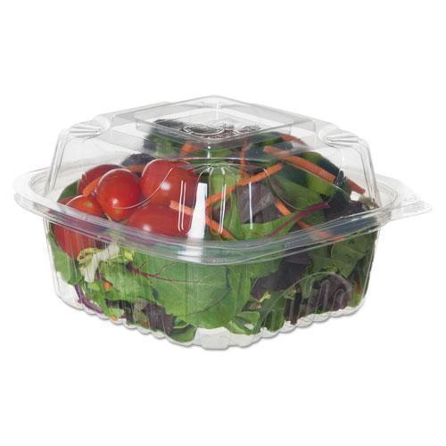 "EcoProduct Renewable & Compostable Clear Clamshells - 6"" X 6"" X 3"", 80-pk, 3 Pk-ct-Eco-Products®-Omni Supply"