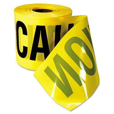 "Empire Caution Barricade Tape, ""caution Cuidado"" Text, 3""x200ft, Yellow W-black Print-Empire®-Omni Supply"
