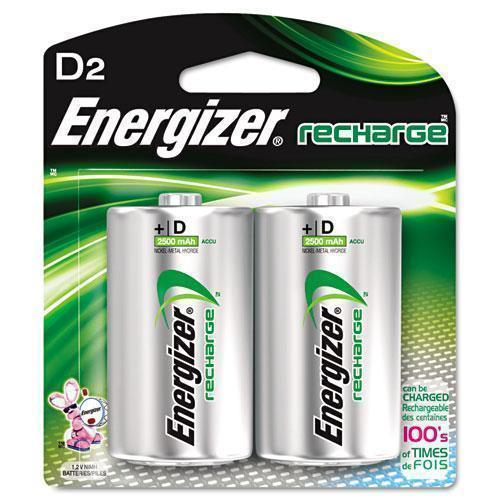 Energizer Nimh Rechargeable Batteries, D, 2 Batteries-pack-Energizer®-Omni Supply