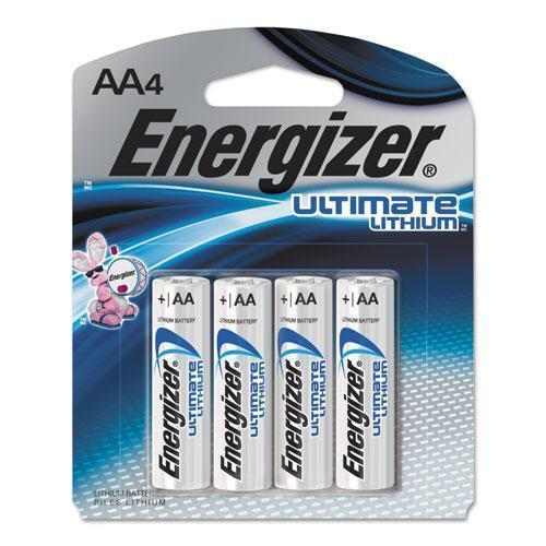 Energizer Ultimate Lithium Batteries, Aa, 4-pack-Energizer®-Omni Supply
