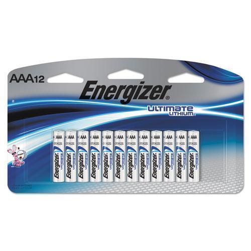 Energizer Ultimate Lithium Batteries, Aaa, 12-pack-Energizer®-Omni Supply