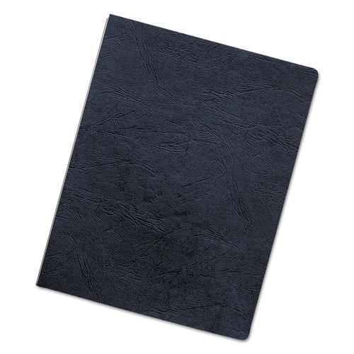 Fellowes EXECUTIVE LEATHER-LIKE PRESENTATION COVER, ROUND, 11-1-4 X 8-3-4, NAVY, 50-PK-Fellowes®-Omni Supply