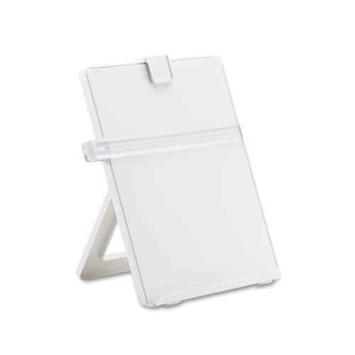Fellowes Non-Magnetic Desktop Copyholder, Plastic, 125 Sheet Capacity, Platinum-Fellowes®-Omni Supply