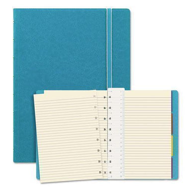 Filofax Notebook, College Rule, Aqua Cover, 8 1-4 X 5 13-16, 112 Sheets-pad-Filofax®-Omni Supply