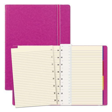 Filofax Notebook, College Rule, Pink Cover, 8 1-4 X 5 13-16, 112 Sheets-pad-Filofax®-Omni Supply