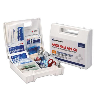 First Aid Ansi 2015 Compliant Class A Type I & Ii First Aid Kit For 25 People, 89 Pieces-First Aid Only™-Omni Supply