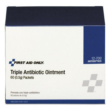 First Aid Triple Antibiotic Ointment, 0.5 G Packet, 60-box-First Aid Only™-Omni Supply