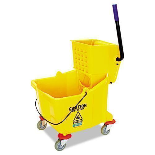 Flo-Pac Side-Press Bucket-wringer Combo, 8.75 Gal, Yellow-Flo-Pac®-Omni Supply