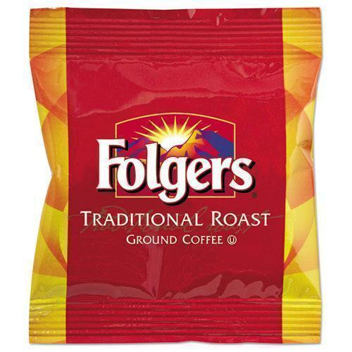 Folgers Ground Coffee Fraction Packs, Traditional Roast, 2oz, 42-carton-Folgers®-Omni Supply