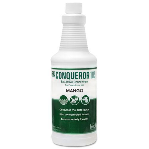 FreshProd Bio Conqueror 105 Enzymatic Concentrate, Mango, 32oz, Bottle, 12-carton-Fresh Products-Omni Supply