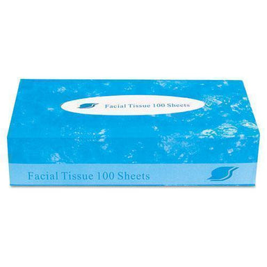 GEN Boxed Facial Tissue, 2-Ply, White, 100 Sheets-box-GEN-Omni Supply