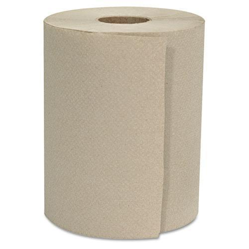 "GEN Hardwound Roll Towels, 1-Ply, Natural, 8"" X 600 Ft, 12 Rolls-carton-GEN-Omni Supply"