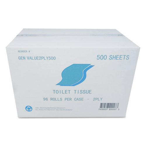 GEN Small Roll Bath Tissue, 2-Ply, White, 500 Sheets-roll, 96-carton-GEN-Omni Supply