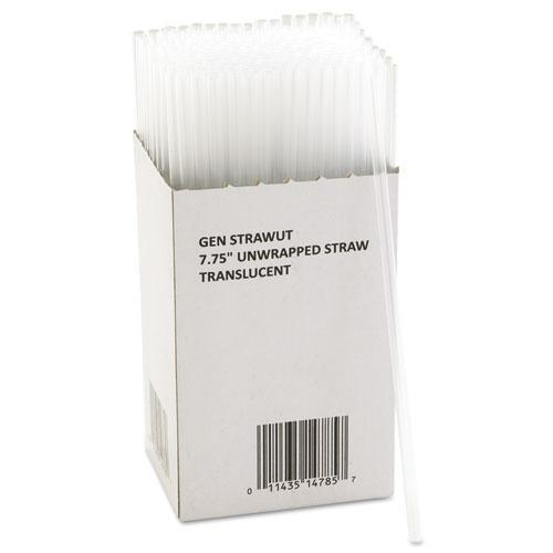 "GEN Unwrapped Jumbo Straws, 7 3-4"", Translucent, 225-pack, 50 Packs-carton-GEN-Omni Supply"