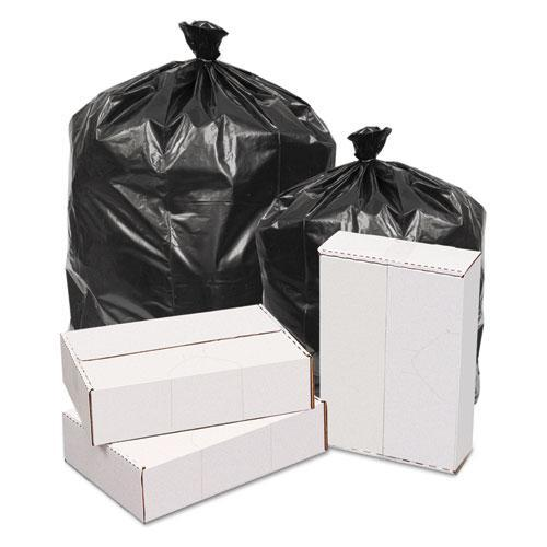 GEN Waste Can Liners, 1.6mil, 38w X 38d X 58h, Black, 100-carton-GEN-Omni Supply