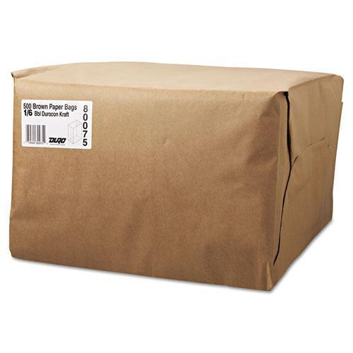 General 1-6 Bbl Paper Grocery Bag, 52lb Kraft, Standard 12 X 7 X 17, 500 Bags-General-Omni Supply